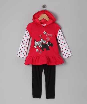 Red Scottie Layered Tunic & Leggings - Infant, Toddler & Girls