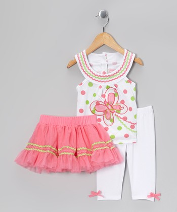 Pink Rickrack Skirt Set - Infant
