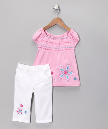 Pink Flower Tunic & Pants - Toddler
