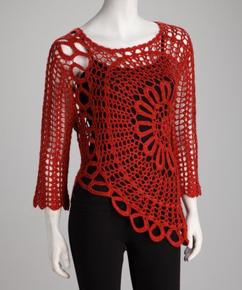 Paprika Crocheted Top