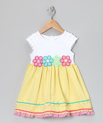Yellow Floral Dress - Toddler
