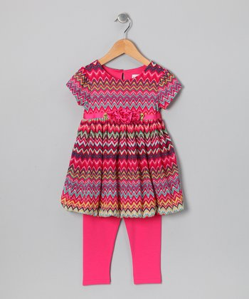 Pink Zigzag Tunic & Leggings - Infant