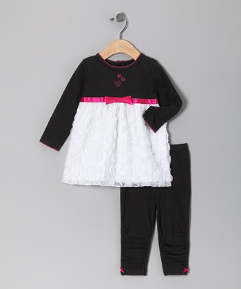 Black & White Heart Tunic & Leggings - Infant