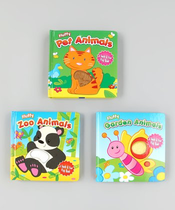 Fluffy Friends Touch & Feel Board Book Set 2