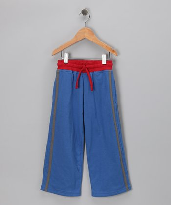 Olympic Blue & Chili Pepper Organic Track Pants - Toddler & Kids