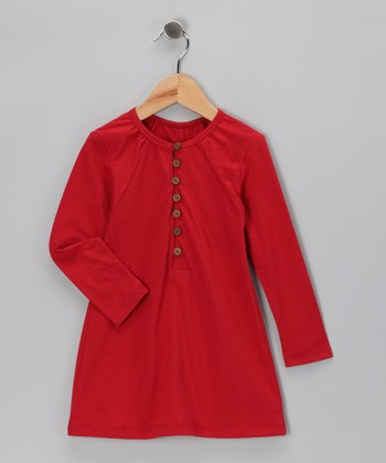 Red Organic Tunic - Toddler & Girls