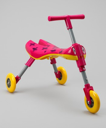 Pink & Yellow Bimba Bug Portable Scooter