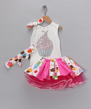 Yuli n' Grace Pink Birthday Tutu Set - Infant, Toddler & Girls