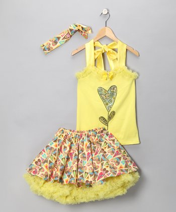 Yellow Flower Tutu Set - Infant, Toddler & Girls