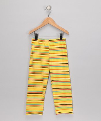 Yellow Stripe Pants - Infant & Girls