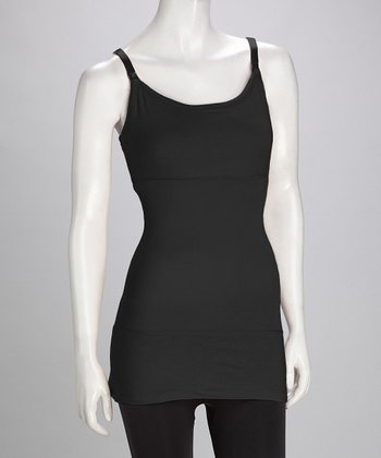 Yummie Tummie Black Long Nursing Tank