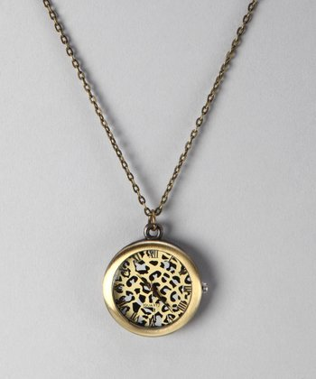 Leopard Watch Pendant Necklace