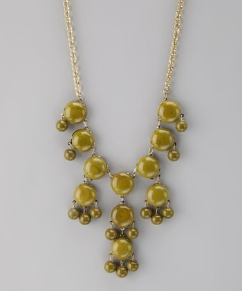 Olive Bubble Necklace