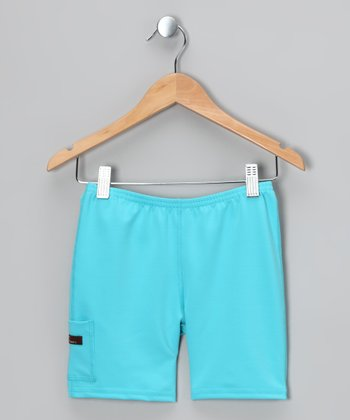 Turquoise Shorts - Infant, Toddler & Girls