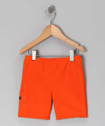 Orange Shorts - Infant, Toddler & Girls
