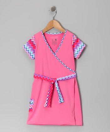 Bubblegum Faux Wrap Dress - Infant, Toddler & Girls