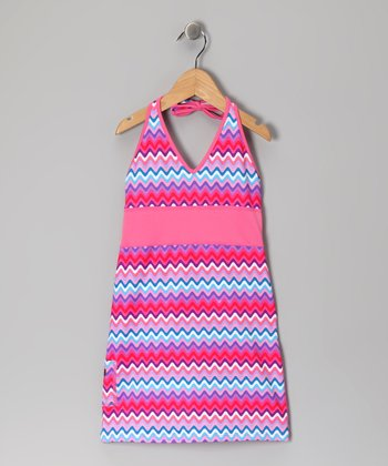 Bubblegum Rickrack Halter Dress - Infant, Toddler & Girls