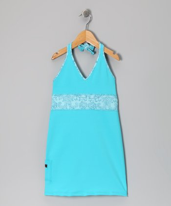 Turquoise Halter Dress - Infant, Toddler & Girls