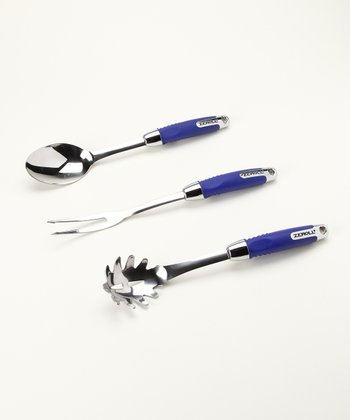 Zeroll Blueberry Spaghetti Server Utensil Set