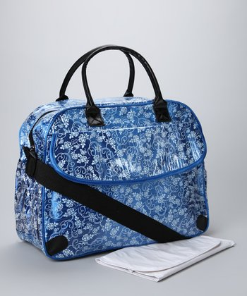 Blue Trending Mom Diaper Bag & Changing Mat