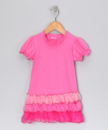 Pink Ruffle Dress - Toddler & Girls