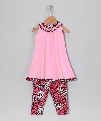 Pink Cheetah Tunic & Leggings - Toddler