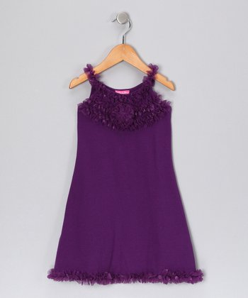 Purple Rosette Dress - Toddler & Girls