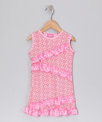 Pink Zigzag Dress - Toddler & Girls