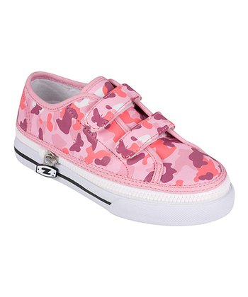 Zipz Shoes Pink Camo Two-Strap Sneaker