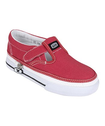 Zipz Shoes Cranberry T-Strap Sneaker