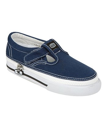 Zipz Shoes Denim Blue T-Strap Sneaker