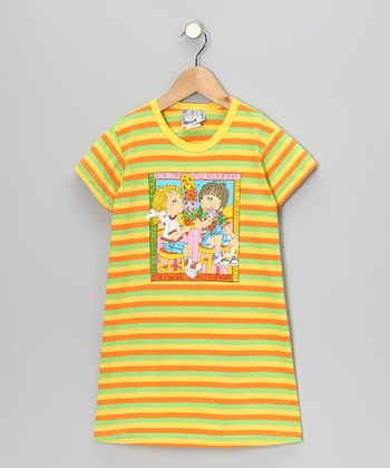 Yellow Stripe Ice Cream Dress - Toddler & Girls