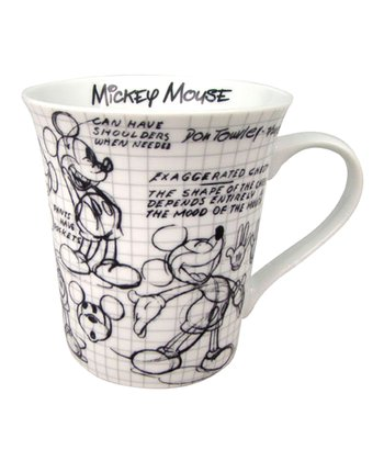Mickey Sketch Mug - Set of Four
