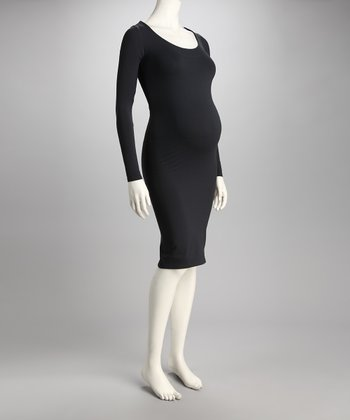 Zula Slate Gray Maternity Tube Dress