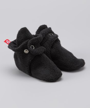 Black Fleece Booties