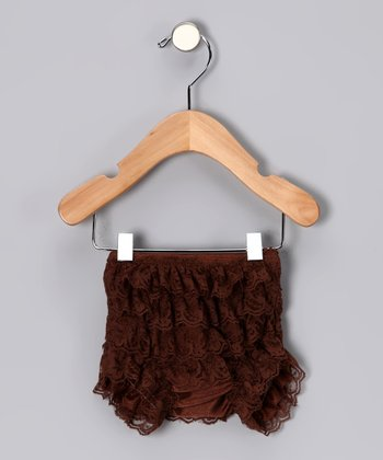 Brown Lace Ruffle Bloomers - Infant & Toddler