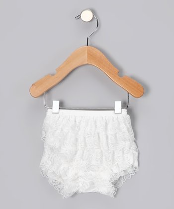 White Lace Ruffle Bloomers - Infant & Toddler
