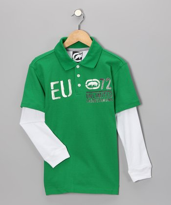 Celtic Green 'EU' Layered Polo - Boys