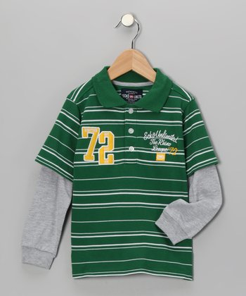Emerald Green 'The Rhino League' Layered Polo - Toddler