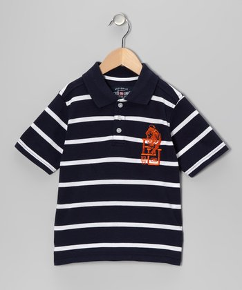 Deepest Blue Feeder Pique Polo