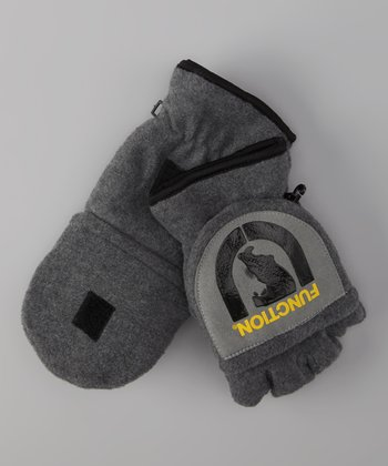 Gray 'Function' Fleece Convertible Mittens