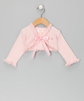 Petal Pink Bow Shrug - Infant