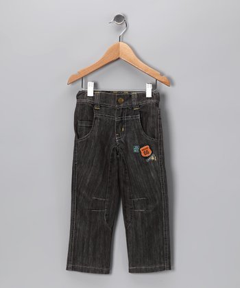 Black Distressed 'Route 66' Straight-Leg Jeans - Infant & Toddler