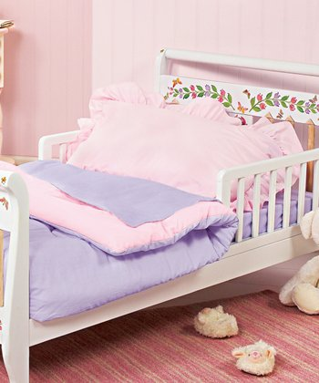 Pink & Lavender Reversible Toddler Bedding Set