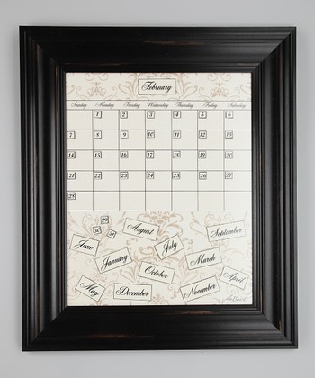 Black Framed Calendar Board