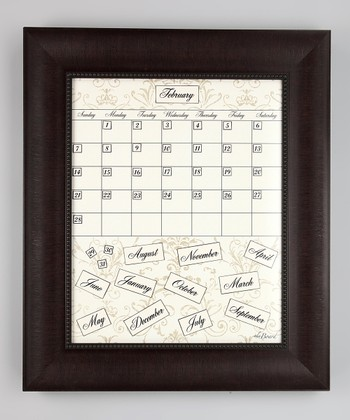Brown Framed Calendar Board