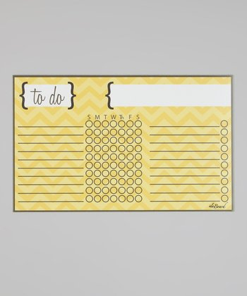 Yellow Zigzag Magnetic Chore Chart