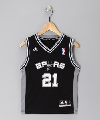 Black San Antonio Spurs Duncan Jersey - Kids