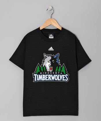 Black Minnesota Timberwolves Tee - Kids
