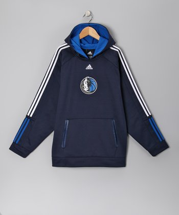 Navy Dallas Mavericks Fleece Pregame Hoodie - Kids